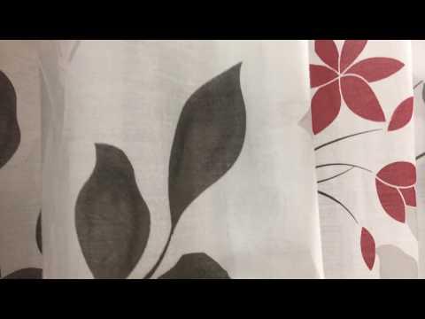 Schlaufenschal Dekoschal Fertiggardine rot anthrazit