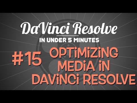 DaVinci Resolve in Under 5 Minutes: Optimizing Media in DaVinci ...