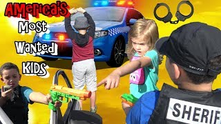 POLICE HUNT DOWN AMERICA'S MOST WANTED KIDS - COP KIDS PATROL - Video Youtube