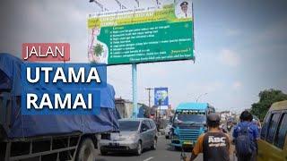 Kendaraan Roda Dua dan Roda Empat Mulai Ramai Melewati Jalan Utama Cirebon