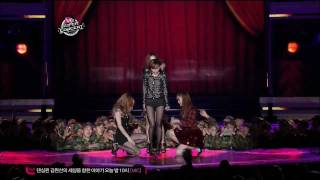111106 - Sunny Hill - Midnight Circus @ Mnet M! Super Concert