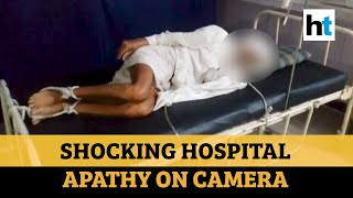 Watch: MP hospital ties 80-year-old man to bed after family failed to pay dues - Download this Video in MP3, M4A, WEBM, MP4, 3GP