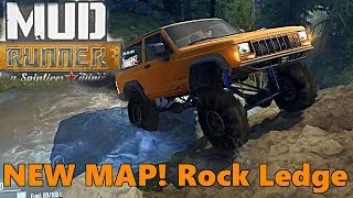 SpinTires Mud Runner: NEW MAP! Rocky Ledge, Exploration Part 1 |  SO MANY ROCKS!