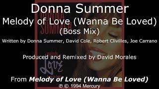 "Donna Summer - Melody of Love (Boss Mix) LYRICS - SHM ""Melody of Love"" 1994"