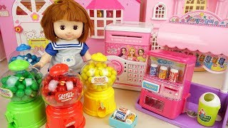 Baby doll candy machine and drinks machine baby Doli play