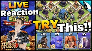 Reacting LIVE to the Wildcard Voting + Check out This Hog/Valk Bat Attack Strategy!! Clash of Clans
