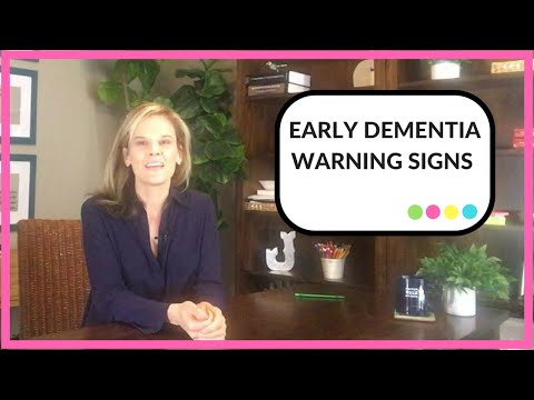 early dementia warning signs