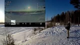 Квадрокоптер взлетел на высоту 8.4км / High altitude drone flight FPV