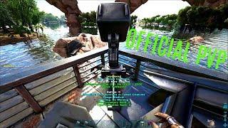 TURRET MOTOR BOAT BUILD - Official Ragnarok PVP (E20) - ARK Survival