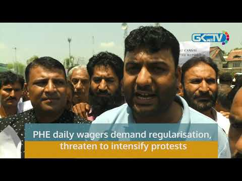 PHE daily wagers demand regularisation, threaten to intensify protests
