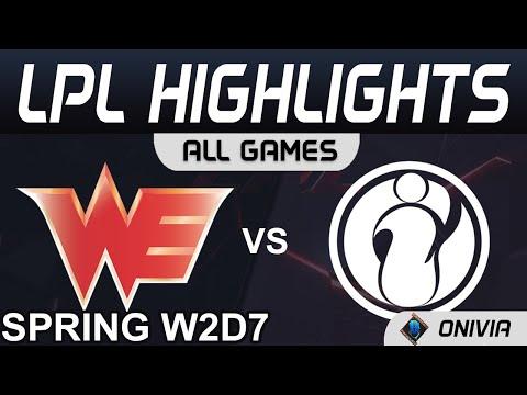 WE vs IG  TheShy神來殺神 佛擋殺佛 2021 LPL春季賽Highlights