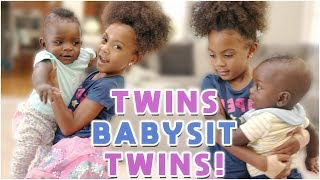 Twins Babysit Other Twins!