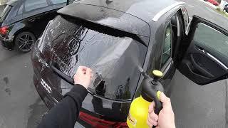 PKW Autoglasfolie anbringen an Heckscheibe folieren mit CFC Autoglasfilm Audi A3 Sportback Anleitung