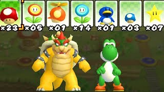 What happens when Bowser and Yoshi uses Mario's Power-Ups? 2 Player Co-Op