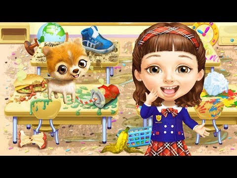 Sweet Baby Girl School Cleanup 6 - Play Fun School Cleaning Makeover Games - Fun Baby Girl Care Game
