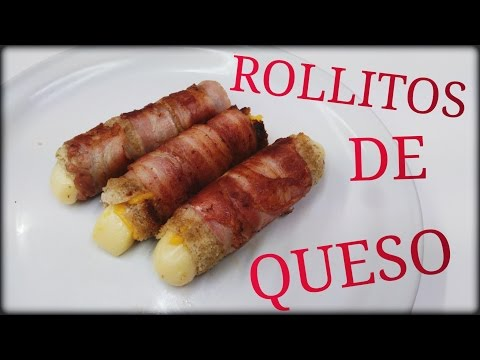 ROLLOS DE QUESO CON TOCINO / Rolls Of Cheese With Bacon - 2018! - [Fácil&Rápido]