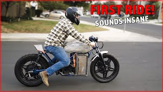 ELECTRIC CAFE RACER for $4,000 – FIRST RIDE