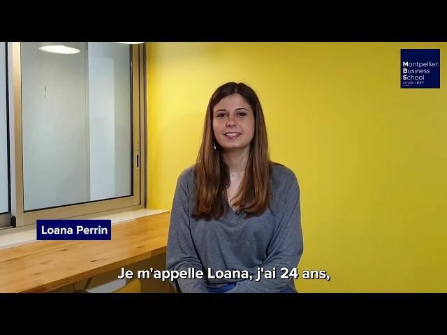 Découvrez le témoignage de Loana, étudiante en dernière année de MBS