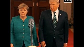 Angela Merkel Visits Trump White House