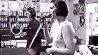 Stereolab Peng! 33 and Super Falling Star at a record shop performance.