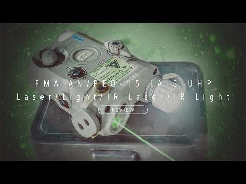 FMA AN/PEQ-15 LA5 UHP Flashlight/Laser/IR Lenses Cap/IR NIGHT VISION LASER [Review]