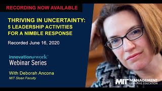 Thriving In Uncertainty: 5 Leadership Activities For A Nimble Response