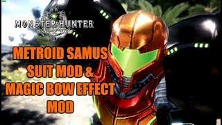 MHWPC Metroid Prime Samus Suits and Magic Bow effect effect MOD