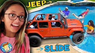 JEEP vs. POOL (FV Family Slide Towing Vlog w/ a side of ICE)