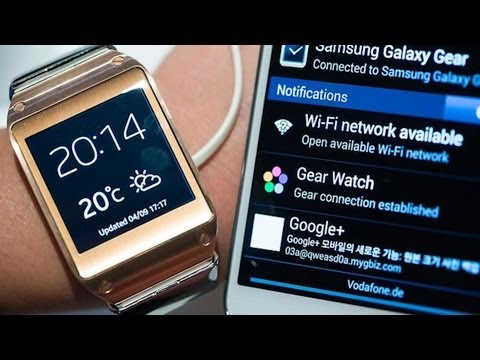 Galaxy Gear Smartwatch and Note 3