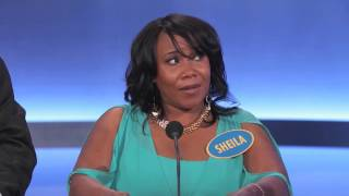 Family Feud - The worst contestant EVER on family feud ever - Sheila the