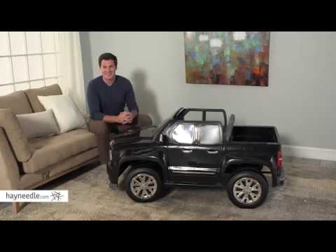 Rollplay 12 Volt GMC Sierra Denali Battery Powered Ride-On Vehicle - Product Review Video