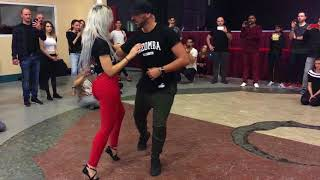 Sara Lopez & Ivo Viera dancing Kizomba at BachaaKizzz 1st Edition (Stuttgart)