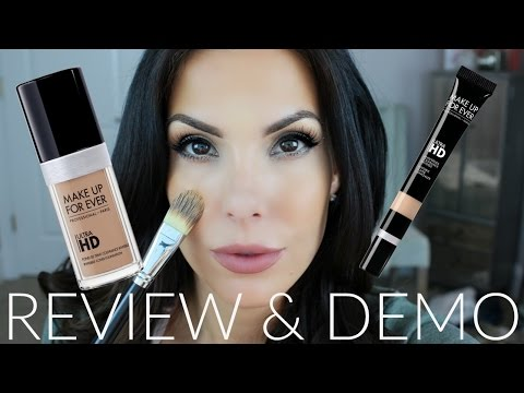 Makeup Forever ULTRA HD Foundation And Concealer Review + Demo