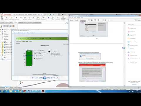 100% on the CSWA Solidworks Exam - #5minFriday - #25 - YouTube