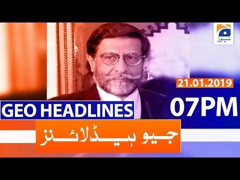 Geo Headlines 07 PM | 21st January 2020
