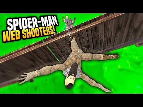 SPIDERMAN WEB SHOOTER MOD IN VIRTUAL REALITY - Blades and Sorcery VR Mods (Update 7)