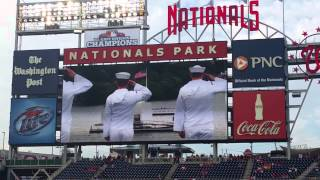 Washington Nationals 8/19/14 Pregame Ceremony
