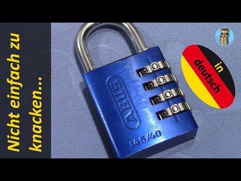 (picking 643) ABUS 145/40 Zahlenschloss geknackt - eine interessante Herausforderung