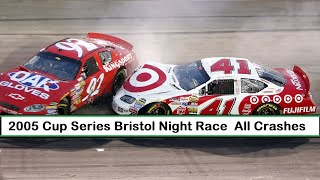 All NASCAR Crashes From The 2005 Sharpie 500