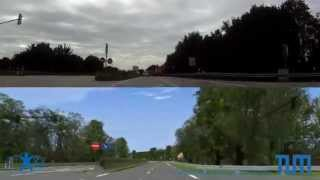 preview picture of video 'Federal Road B13 in the North of Munich -- Driving Simulator Track'