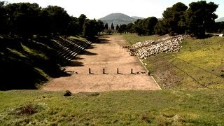 preview picture of video 'People behind the excavation. Epidaurus.  English pronunciation'