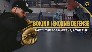 Boxing | Boxing Defense Part 2, The Bob & Weave, & The Slip | It's ON! Boxing MMA