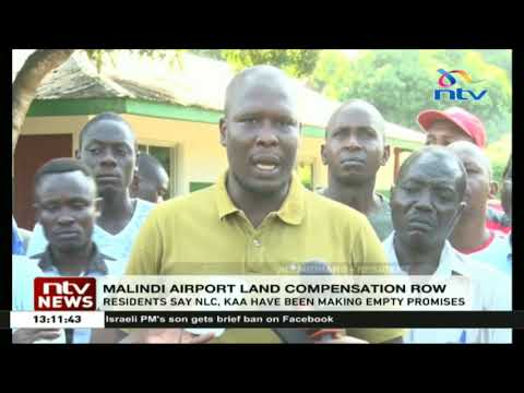 Kilifi north residents demand compensation for Malindi airport land