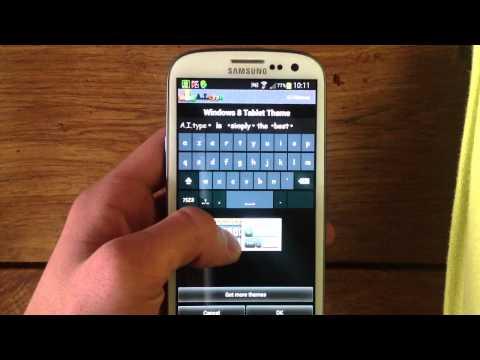 comment modifier le clavier samsung galaxy s