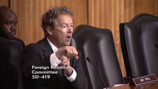 """The US is at War Illegally for over a Decade"" Rand Paul on War"