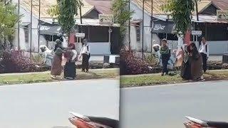 Viral Video Perkelahian Dua Siswi Berseragam, Berkelahi di Tepi Jalan di Kota Pontianak
