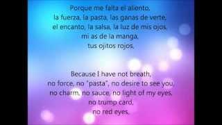 Me falta el aliento- Estopa (Letra en español e Ingles)
