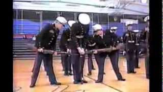 preview picture of video 'Portage High School MCJROTC Armed IDR Platoon - Springfield - 2001'