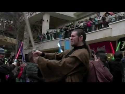 A Geek's Dream Come True | Star Wars Lightsaber Flashmob