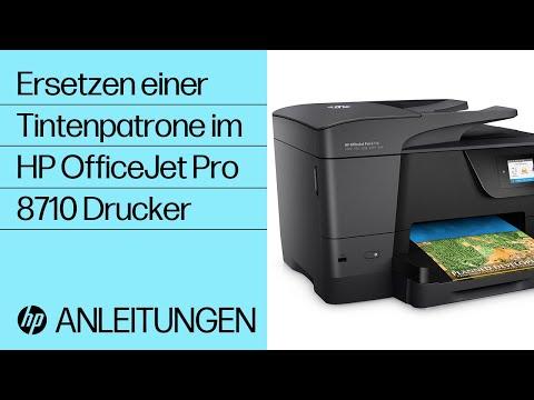 Ersetzen einer Tintenpatrone im HP OfficeJet Pro 8710 Drucker